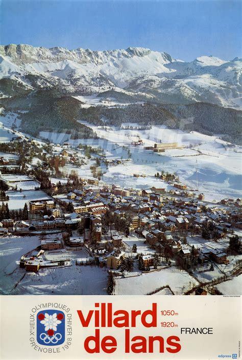 grenoble x 232 jeux olympiques d hiver 1968 villard de lans 1050 1920 m affiche officielle de la