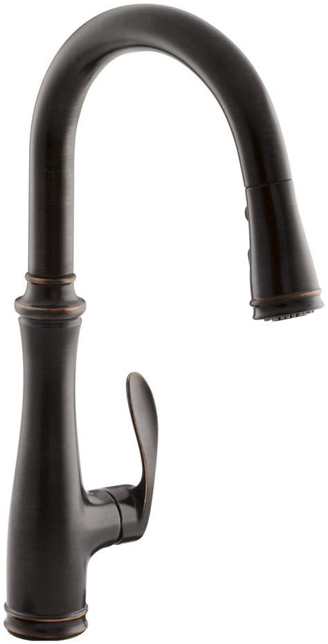 kohler k 560 vs bellera pull kitchen faucet vibrant