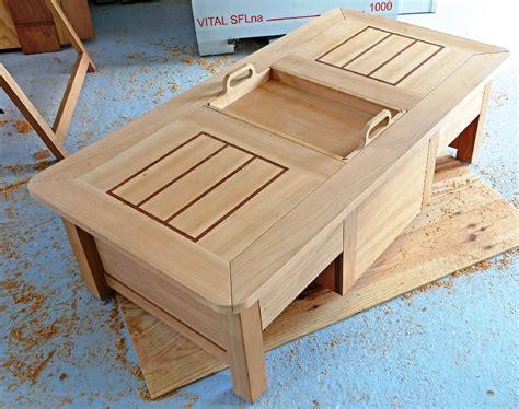 une table coffre moderne et astucieuse bois le bouvet