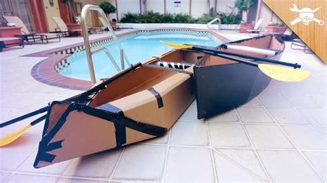 Cardboard Boat Videos by Building 20 Cardboard Boats Youtube