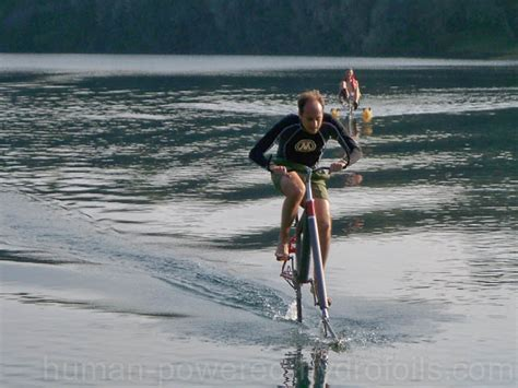 What Does Hydrofoil Boat Mean by Waterbike Human Powered Hydrofoil