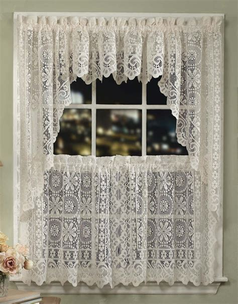jacquard flower lace curtains sturbridge yankee