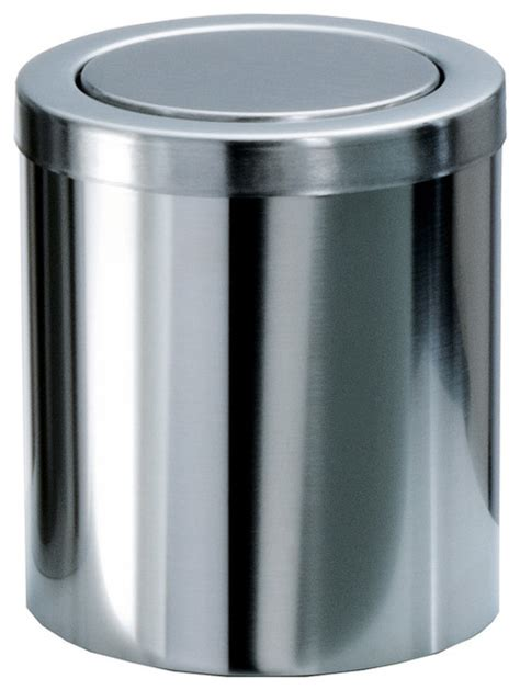 small coutertop wastebasket with swing lid