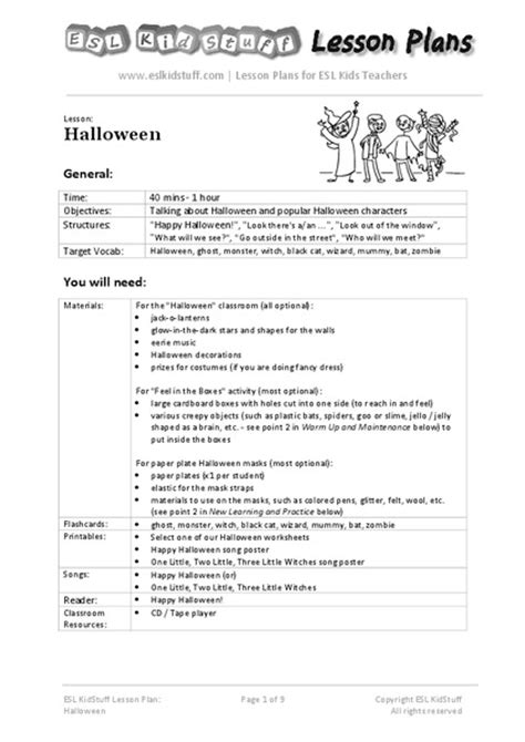 Halloween For Upper Elementary Collection  Lesson Planet
