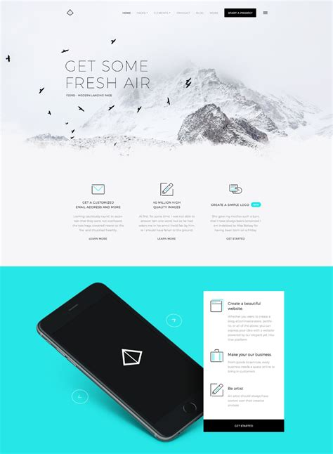 Fjord Ui by Fjord Free Landing Page Website Template Freebies