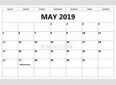 Calendar May 2019 Template Download Calendar Template