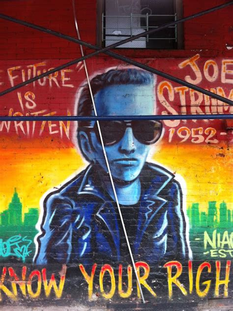 ev grieve to hell keeping a watchful eye on the joe strummer mural