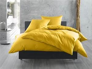 Satin Spannbettlaken 140x200 : mako satin bettw sche uni einfarbig gelb online kaufen bms ~ Markanthonyermac.com Haus und Dekorationen