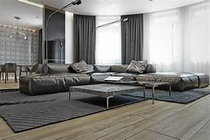 Wohnzimmer Boden Grau : wohnzimmer in grau mit eckcouch im mittelpunkt 55 ideen ~ Markanthonyermac.com Haus und Dekorationen