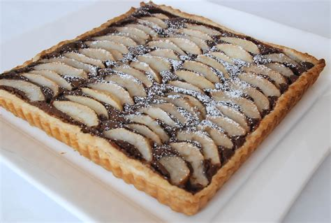 tarte poires frangipane chocolat cf c felder p 226 te feuillet 233 e au cook in cuisine plurielle