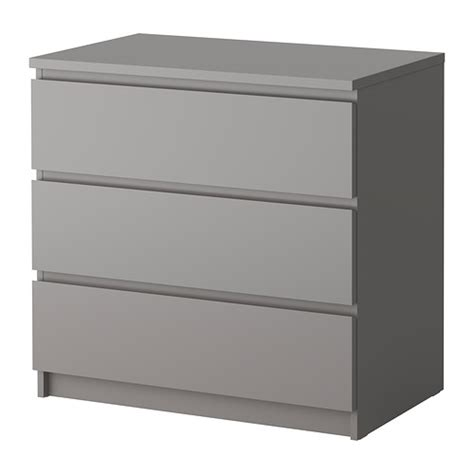 ikea nyvoll dresser grey malm chest of 3 drawers grey ikea