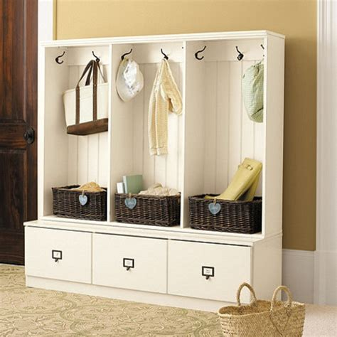 Beadboard Entryway Cabinet  Set Of 3  Traditional Hall