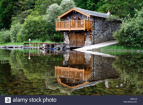 Boathouse On The Lake by The Duke Of Portland Boathouse On Ullswater Lake In Spring