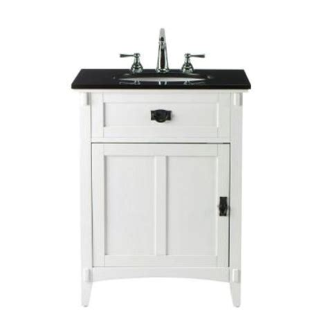 home decorators collection artisan 26 in w x 34 in h bath vanity in white with granite vanity