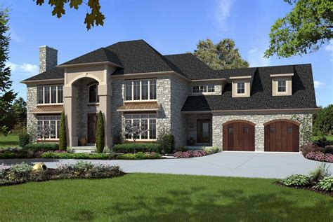 Custom Luxury Home Designs With Gray And Brown Colors