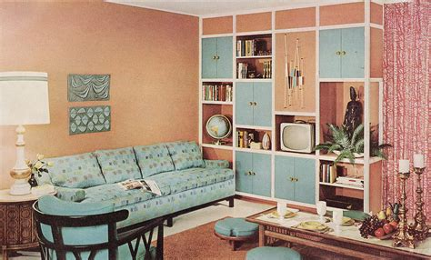 Sixties Living Room : 1960 Sherwin Williams Home