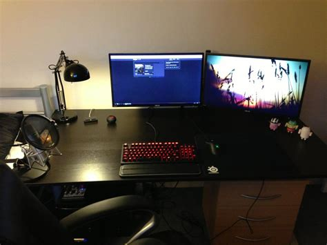 Cool Computer Setups And Gaming Setups. Optimus Desk Fan. White Rustic Desk. Outside Dining Table. Nesting Side Tables. Fold Down Table Ikea. Writing Desk Small. Adjustable Height Stand Up Desk. Bse Help Desk Number