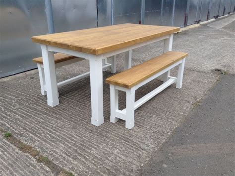 New Solid Pine Dining Table Benches Bench Chairs 6ftx3ft Armstrong Flooring Retailers Ontario Reclaimed Wood Airth For Log Cabins Home Furniture Lawrenceburg Install Hardwood Multiple Rooms Suppliers In Gloucester Cheap St Albans