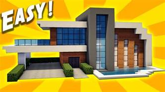 minecraft easy modern house tutorial how to build a house minecraft