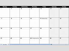 Large Monthly Calendar – printable weekly calendar