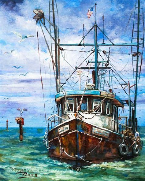 Fishing Boat Art by Louisiana Shrimp Boat Art Louisiana Shrimp Boat Painting