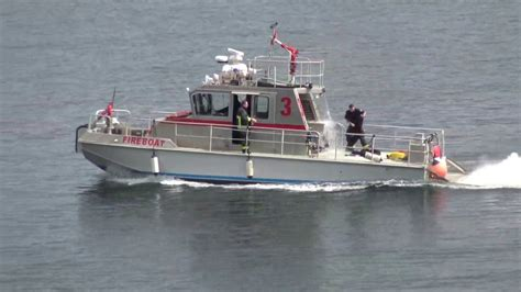 Vancouver Fire Boat 3 air horn vancouver fire quint 6 fire boat 3