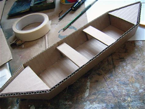 Easy Cardboard Boat Making by Then I Covered The Top And Bottom With Paper First And