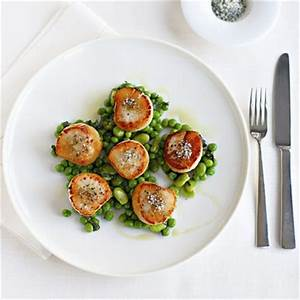 Gordon Ramsay scallops with minted peas and beans Fish