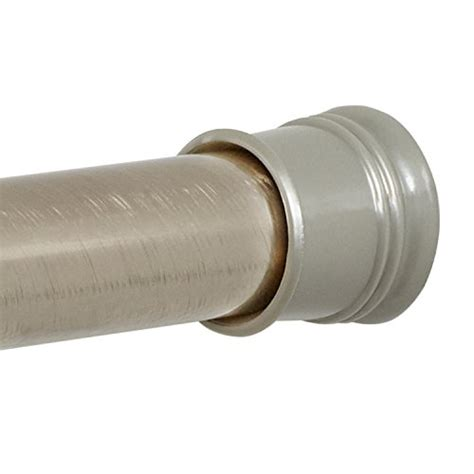 zenna home 505st tension shower curtain rod 43 to 72 inch brushed nickel curtain store