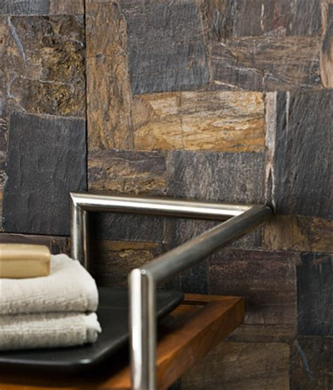 petrified wood tile bathroom by sacks