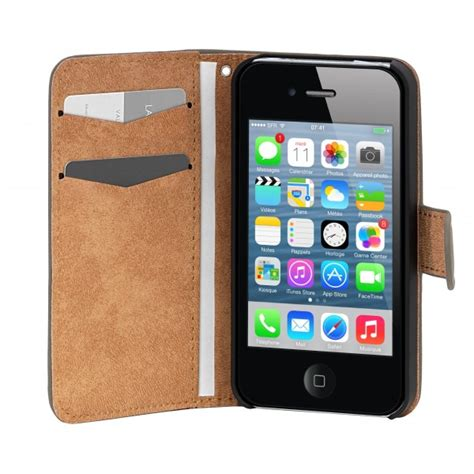 housse iphone 5 s folio velvet grise