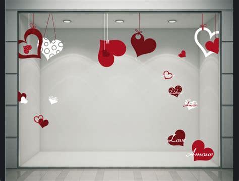 stickers coeurs ruban stickers pour la d 233 coration de vitrines de magasins ek d 233 coration