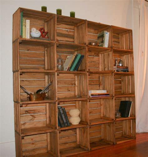 Reclaimed Wood Crate Bookshelf  Stylized Storage
