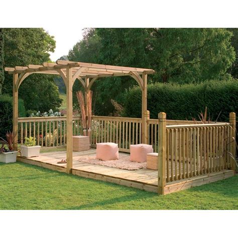 forest garden ultima combined pergola decking kit fsc timber source