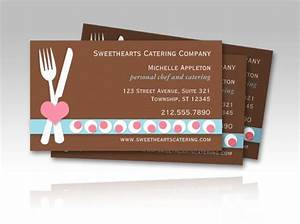 personal chef and catering (culinary) business cards ...
