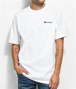 Champion Heritage Embroidered Script White T-Shirt | Zumiez