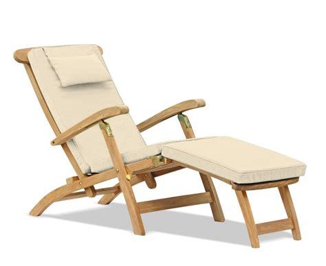 halo teak steamer chair brass fittings cushion