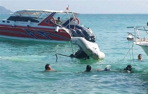 Boat Accident Yesterday by German Killed In Phuket Flying Boat Crash