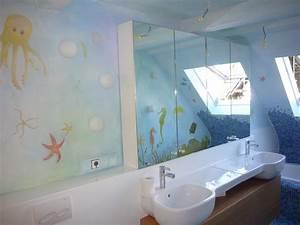 Wandbilder Für Badezimmer : bad badezimmer gestaltung wandmalerei wandgestaltung berlin ~ Markanthonyermac.com Haus und Dekorationen