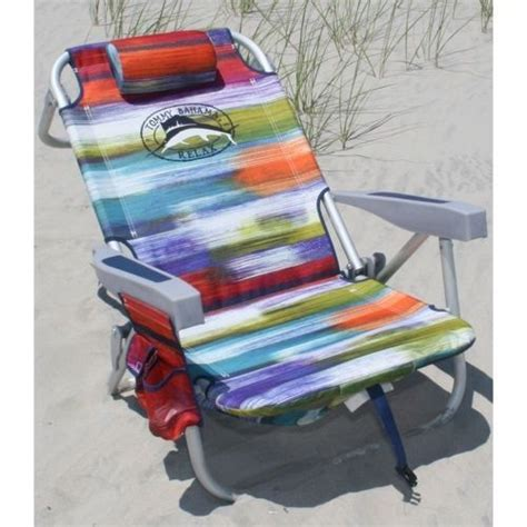 bahama backpack chair folding for park cing w cooler ebay