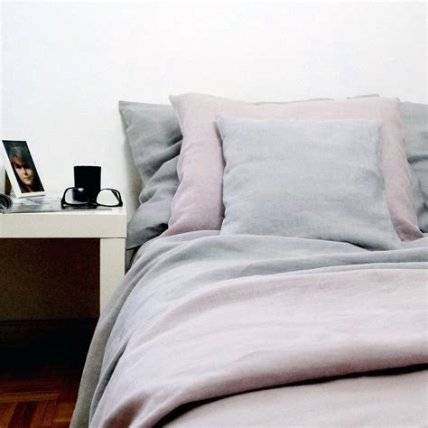 Pure Linen Bedding  Striped Natural Linen Instylehousese