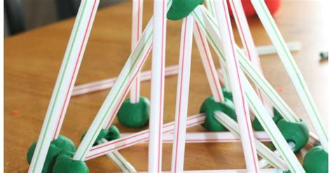 Gumdrop Christmas Tree Stem by Christmas Tree Stem Play Dough And Straws Christmas Tree