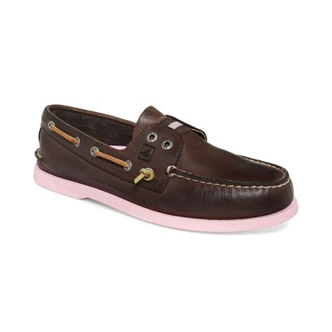 Pink Boat Shoes For Men by Sperry Top Sider Ao Gore Colored Sole Boat Shoes In Pink