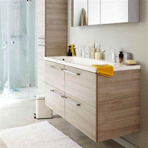 indogate meuble salle de bain bois gris