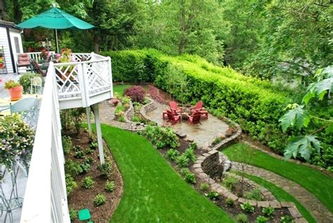 Slope Yard Ideas by Sloped Yard Ideas Steval Decorations