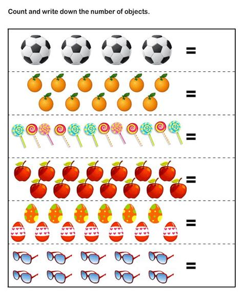 Math Worksheets For Kids  Number Counting Worksheets For Kindergarten  Worksheets Pinterest