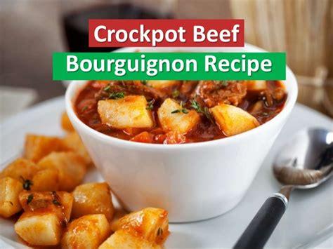 crockpot beef bourguignon recipe