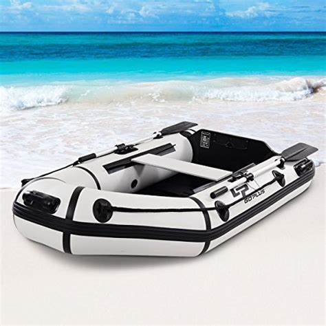 Inflatable Boat With Rigid Floor by Goplus 2 Or 4 Person Inflatable Dinghy Boat Fishing Tender