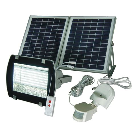 Led Solar Flood Light W Remote & Motion Sensor