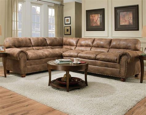 rochester hazelnut two sectional sofa contemporary